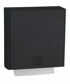 Papierhandtuchspender Edelstahl schwarz Proox DP-100
