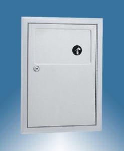 Hygieneabfallbehälter für Damenbinden Edelstahl Wandeinbau Bobrick B353