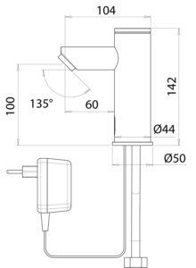 Wasserarmatur_Ventil_SHORTY_ASE-235200.2_Zeichnung