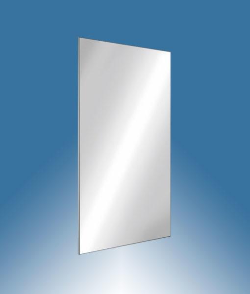 Miroir rectangulaire inox h 500 mm incassable adl 3452 for Miroir inox incassable