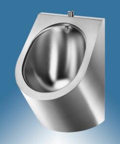Urinal Edelstahl Delabie Abgang offen