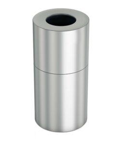 freistehender Abfallbehälter Aluminium