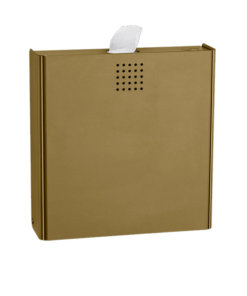 Hygieneabfallbehälter Bronze PVD Beschichtung Proox