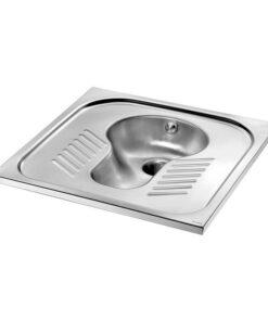 Hock-WC Edelstahl ohne Siphon